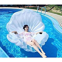 Inflatable Scallop Shaped Floating Mat Swimming Ring, Inflated Size: 170 X 130 X 100cm