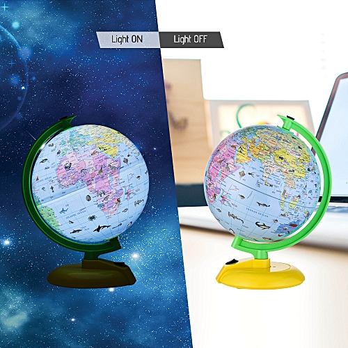 DIPPER G801-LA 8inch Illuminated World Earth Globe Tellurion LED Night View  Nightlight Geography Educational Toy Kid Gift