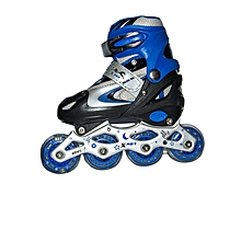 Tracer Adjustable Inline Skates -  Size 31-34 - Blue & White