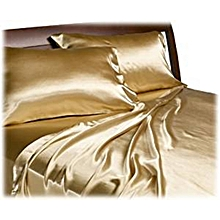 2 Gold Luxurious Satin Hair Pillow Cases  (Hair Protecting)