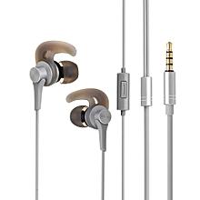 QKZ EQ1 Wired Metal Half In ear HiFi Earphone with Microphone Line Control