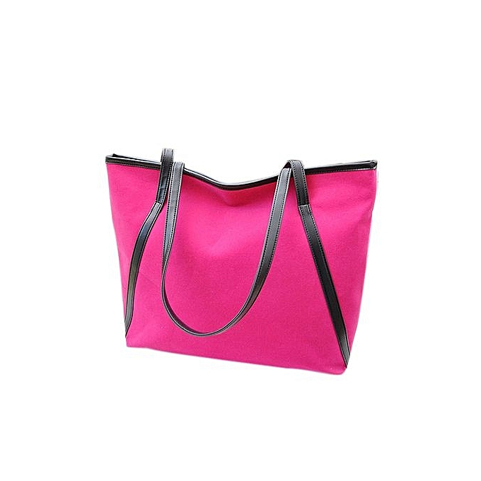 e4273fa578 bluerdream-New Simple Winter Larger Capacity Leather Suede Women Bag  Messenger Hot-Hot Pink