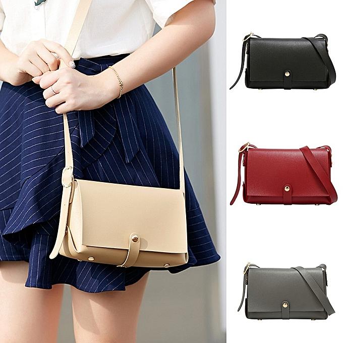 169535e6505c jiuhap store Fashion Women Small Chains Bag Candy Messenger Bags Rivet  Square Bag-Beige