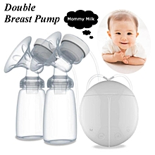 Automatic Double USB Electric Breast Pump w/ 150ml Bottle Baby Feeding Feeder