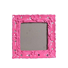 Baroque Photo Frame - Pink