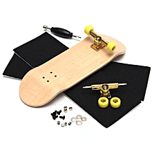 Complete Wooden Fingerboard Finger Skate Board Grit Box Foam Tape Wood Colours