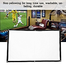 16:9 Projector Screen Projector Projection Screen 16:9 White Manual Projection Screen Without Folding (136in)