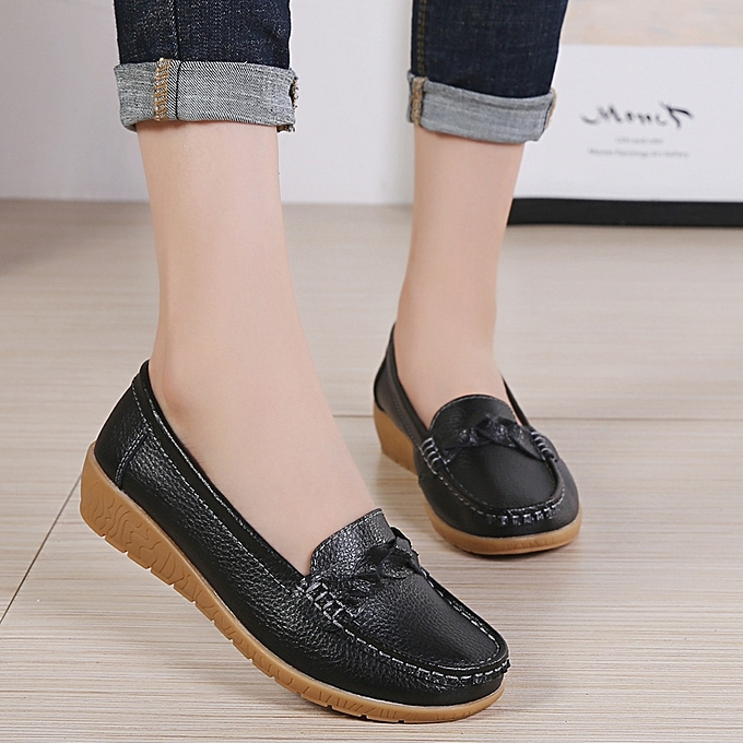 ac13bef37dca0 EUR 35-42 Flats Shoes Woman Cow Leather Women Flats Slip on Women s Loafers  Female