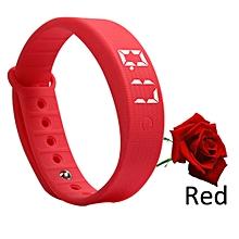 3D LED Calorie Pedometer Sport Smart Bracelet Wrist Watch  -red