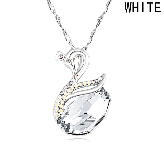 sweater gifts christmas fashion necklaces necklace ladies pendant choker long swan winter chain diamond buy