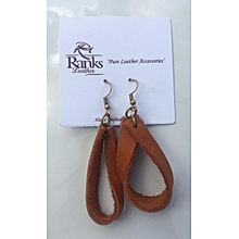 Pure leather earrings