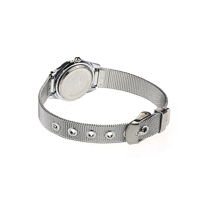 ... Zetenis Black Dial Stylish Couple Lover Stainless Steel Quartz Wrist Watch Women -Women