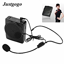 Portable Voice Booster,Voice Amplifier Microphone,Teaching Speaker W/ Waistband Rechargeable UK Plug
