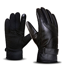 Men Touch Screen Gloves Motorcycle Gloves Keep Warm Ride Men Leather Gloves