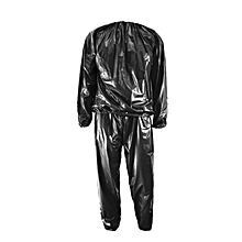 CO Heavy Duty Sweat Sauna Suit Anti-Rip Training Fitness Weight Loss Slim Clothes-black