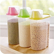 Yellow Clear Cereals Container