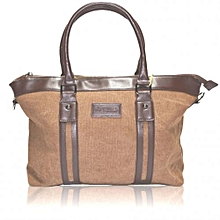 ??Brown Canvas Hand Bag .