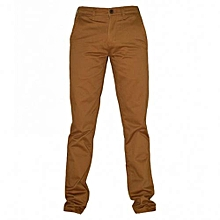 Brown Mens Slim Fit Pants