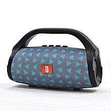 Bass Wireless Bluetooth Speaker Portable Double Speaker Subwoofer Music Player triangle blue