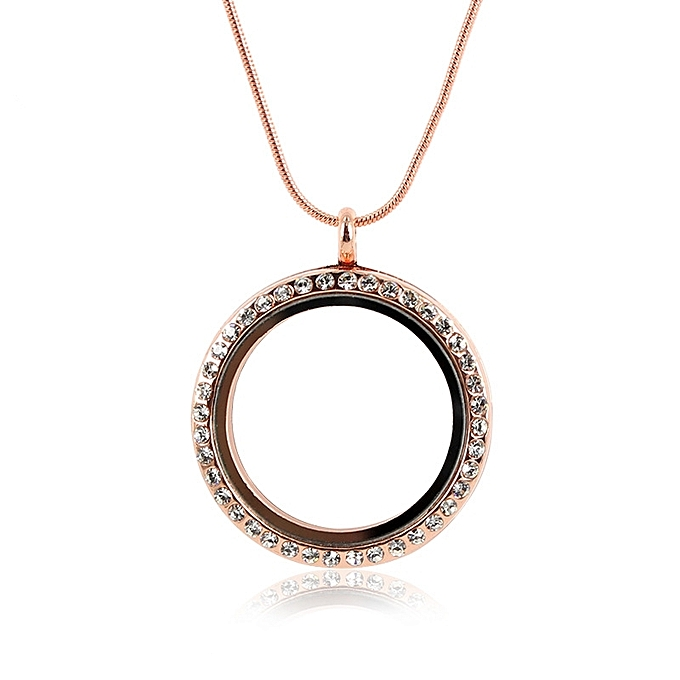 Buy eissely round with diamond memory locket necklace pendants glass round with diamond memory locket necklace pendants glass phase box rg aloadofball Image collections