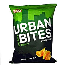 The Groovy cut funky fruit chut n`y Potato crisps 120 Grams