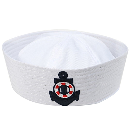 Generic Adult Kid White Yacht Boat Captain Cap Navy Costume Party Cosplay Sailor  Hat HOT 22cm x 17.5cm   Best Price  dee1d1f7ae35