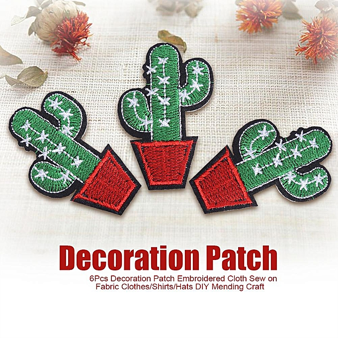 Generic 【Big Sale】6Pcs Decoration Patch Embroidered Cloth Sew On