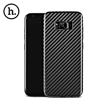 Ultra Thin Carbon Fiber Pattern Soft TPU Protective Shell For Samsung Galaxy S8 - Black
