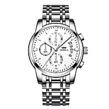 Men Watch Luxury Watches 3ATM Waterproof Watches Calendar Wristwatch For Men Stainless Steel Band