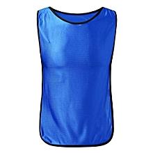 Spring Sports Soccer Football Basketball Training Bibs Jerseys Vest Kids  Blue