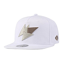 Unisex Flat Eaves Fashion Embroidery Canvas Baseball Cap Hip-hop Hat As Perfect Gift Color:white Specification:adjustable