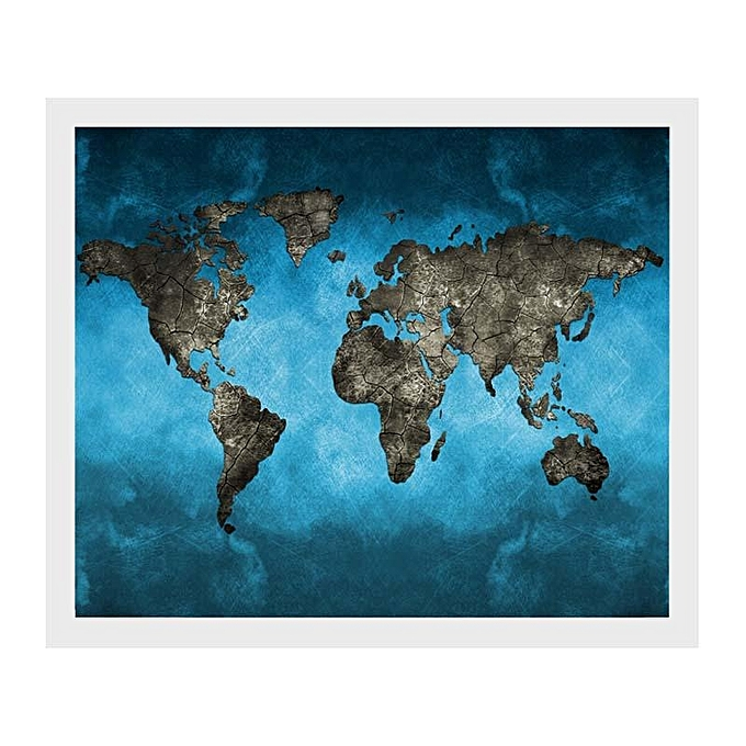 Generic Retro World Map Art Canvas Print Wall Painting Picture
