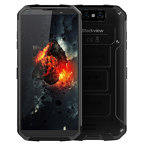 BV9500, 4GB+64GB, IP68 Waterproof Dustproof Shockproof, Dual Back Cameras, 10000mAh Battery, Face ID & Fingerprint Identification, 5.7 inch Android 8.1 Helio P23 (MTK6763) Octa Core up to 2.5GHz, NFC, Wireless Charge, Network: 4G(Black)