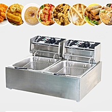 Chef Electric Commercial Deep Fryer Twin Frying Basket Chip Cooker 5000W