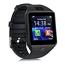 DZ09 - 1.56 Smart Watch - 128MB ROM - 64MB RAM - 0.3MP Camera - Black