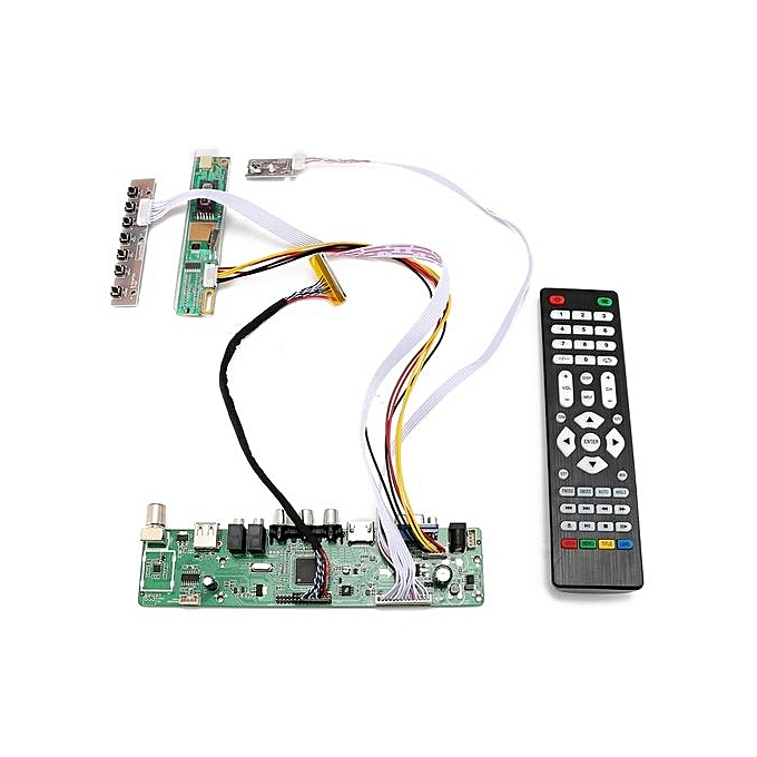 TV Universal LCD LED Screen Controller Board DIY Monitor Kit With Remote  Control