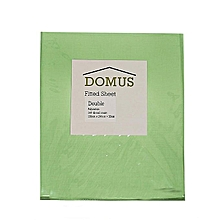 Fitted Sheet - Double - 150cm x 200cm - 144 Polycotton - Light Green