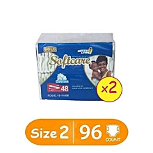 Diapers - Size 2 ( Count 96)