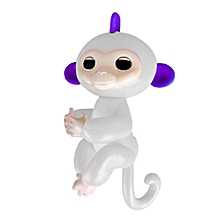 Cute Finger Toy Baby Monkey Toy Kids Gift with Flexible Head Arms Legs-White