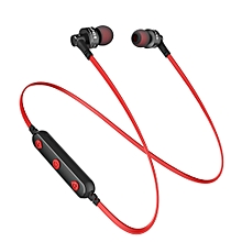 AWEI B990BL Wireless Bluetooth Earphone Magnetic Adsorption Sports Stereo Headphone with Mic