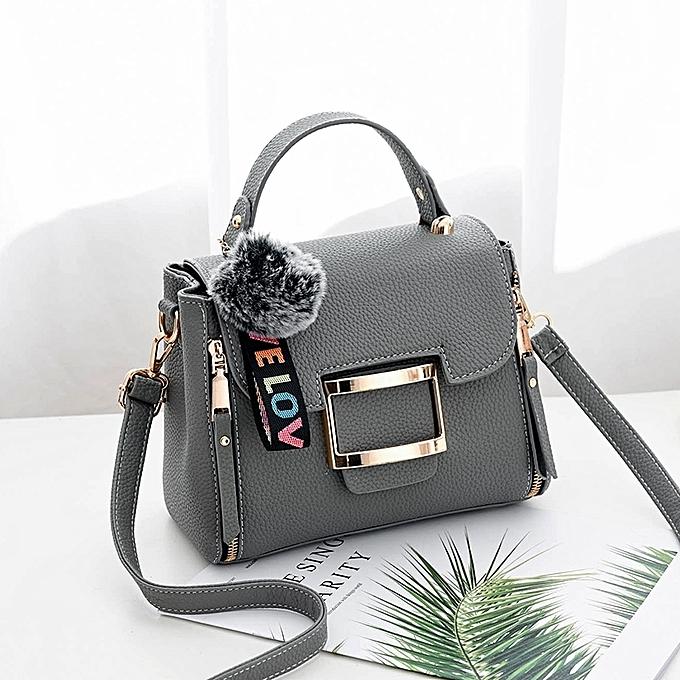 Dark Gray Ms Simple And Versatile Personality Fashion Handbags Women S Bag Messenger