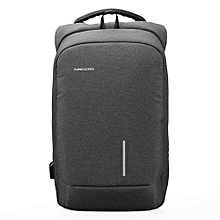External USB Interface Charging Laptop Backpack - Black