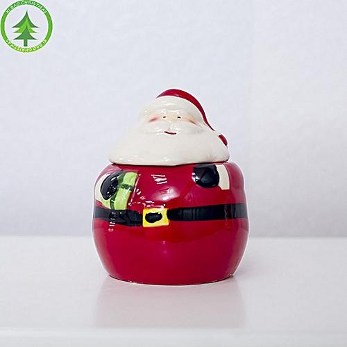 Christmas Ceramic Spice Jar Kitchen Decoration Creative Santa Seasoning Box Multicolor With Gift