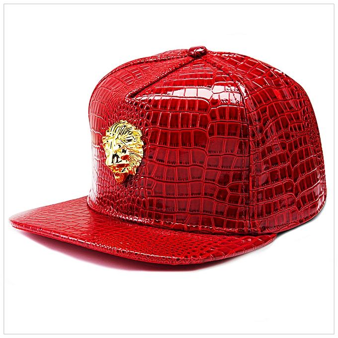 411dd82a10d black-American Lion Head Pharaoh Tide Hip Hop Hop Baseball Cap Leather Cap