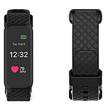 L38i Sports Smart Wristband Bracelet Touch Screen Heart Rate Monitor Waterproof Black