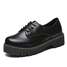 Martin Boots Autumn Winter Shoes Fashion Vintage Lacing Female Boots BK/35