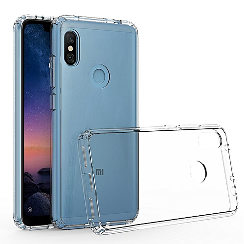 low priced e7590 a3548 For Xiaomi Redmi Note 6 Pro Transparent Silicone Phone Case Anti-drop  Silicone Case Acrylic Frame + Silicone Transparent Back Cover + Transparent  Air ...