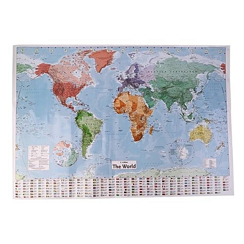 Buy generic multicolor 975 x 675 large world map english french multicolor 975 x 675 large world map english french wall chart teaching poster gumiabroncs Gallery