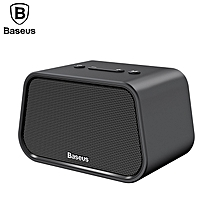Baseus Bluetooth Speaker Mini Portable Outdoor Wireless Speaker 3D Stereo Music Surround Player (Black) FCJMALL
