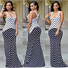 Nigerian Sleeveless Strap Maxi Dresses Evening Gown-Black